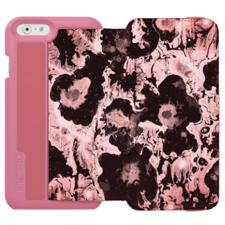 Pink girly water texture design, marbling paper, w incipio watson™ iPhone 6 wallet case