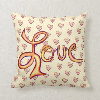 Pink Glamourous Love Word Pillow