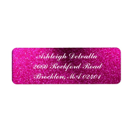 Pink Glitter Address Labels