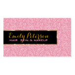 Pink Glitter And Metallic Gold Accents Business Cards