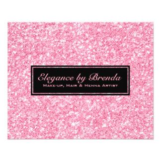Pink Glitter Black Geometric Shapes Flyer