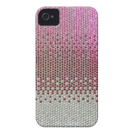 Pink Glitter Bling Diamond Cover iPhone 4 Cases
