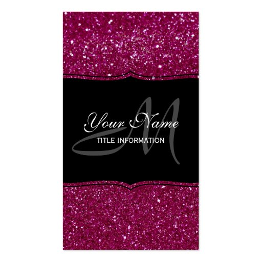 Pink Glitter Business Cards