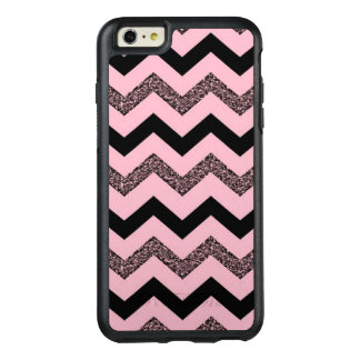 Pink Glitter Chevron iPhone 6 Plus Otterbox Case