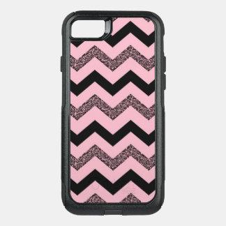 Pink Glitter Chevron iPhone 7 Otterbox Case