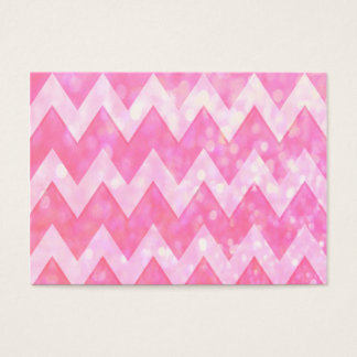 Pink Glitter Chevron Pattern Business Card