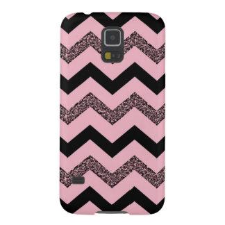 Pink Glitter Chevron Samsung Galaxy S5 Case