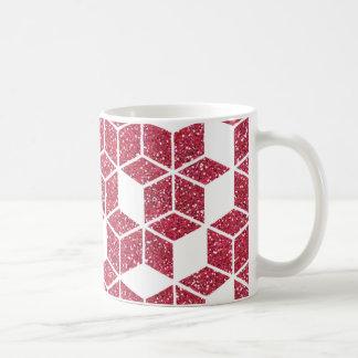 Pink Glitter Cube Pattern Mug
