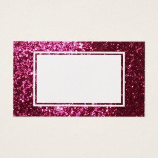 Pink Glitter Customizable Business Card