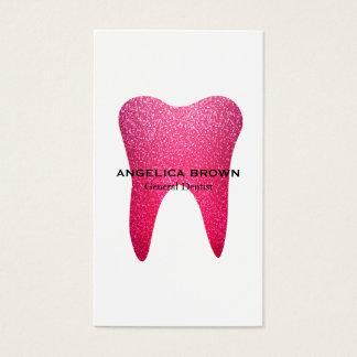 Pink Glitter Dental Business Card