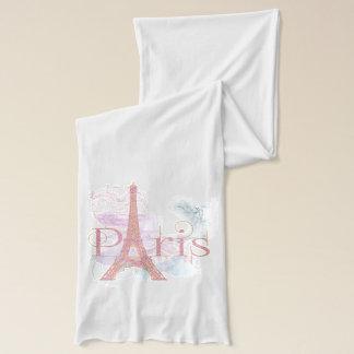 Pink Glitter Eiffel Tower Paris Scarf
