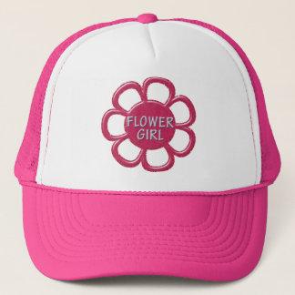 Pink Glitter Flower Girl Trucker Hat