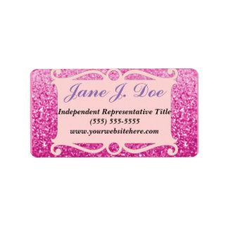 Pink Glitter Frame Brochure Sticker