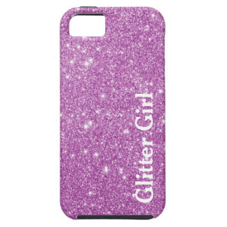 Pink Glitter Girl Show Your Glamours Sparkle iPhone 5 Cases