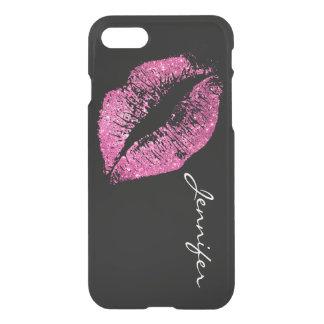 Pink Glitter Lips iPhone 7 Case