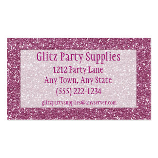 Pink Glitter Look Business Card Customisable