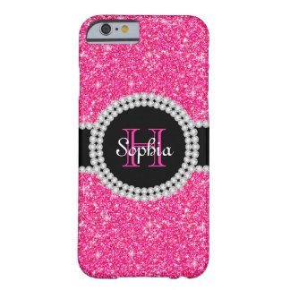 Pink Glitter Monogrammed iPhone 6 Case