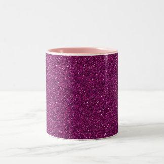 Pink Glitter Two-Tone Mug