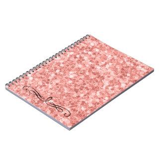 Pink Glitter Notebooks