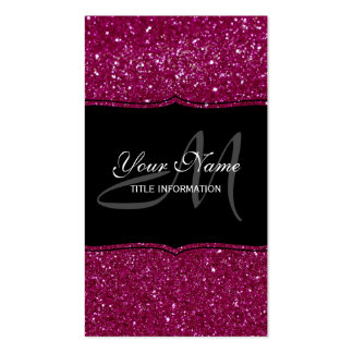 Pink Glitter Pack Of Standard Business Cards