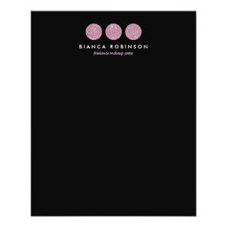 Pink Glitter Palette for Freelance Makeup Artist 11.5 Cm X 14 Cm Flyer