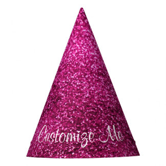 Pink Glitter Party Hat