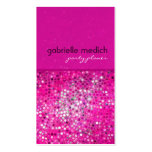Pink Glitter Party Planner Business Card Business Card Templates