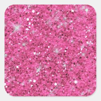 Pink Glitter Pattern ID144 Square Sticker