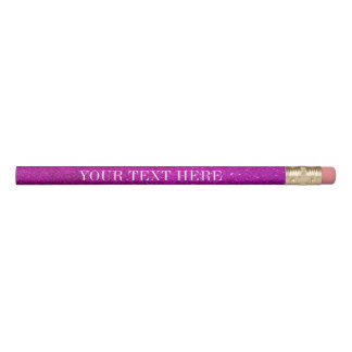 Pink glitter pencils with personalized name