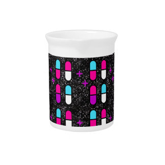 pink glitter pills pitcher