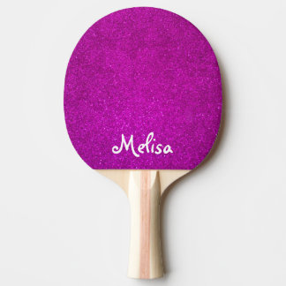 Pink glitter ping pong paddle for tabletennis girl