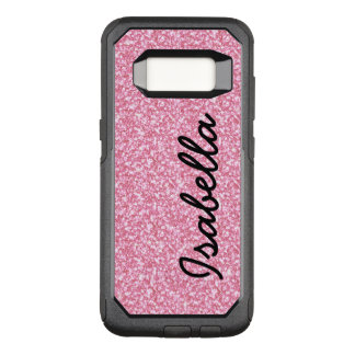 PINK GLITTER PRINTED PERSONALIZED OtterBox COMMUTER SAMSUNG GALAXY S8 CASE