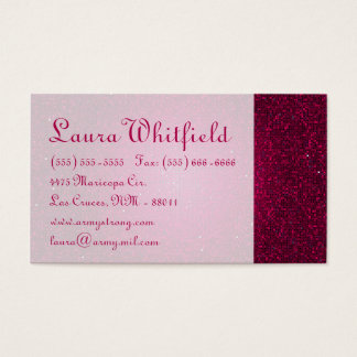 Pink Glitter Sequin Disco Glitz Business Card