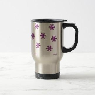 Pink Glitter Snowflake Coffee Mugs