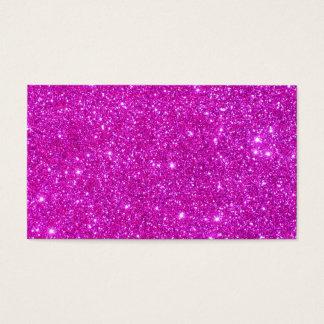 Pink Glitter Sparkle Customizable Design Business Card