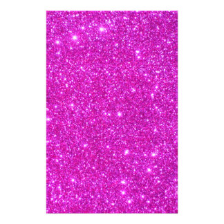 Pink Glitter Sparkle Customizable Design Full Color Flyer