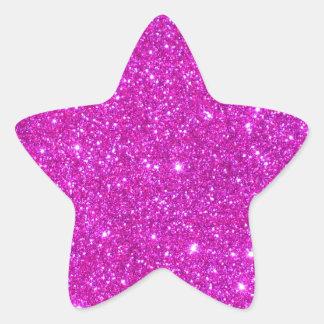 Pink Glitter Sparkle Customizable Design Star Sticker