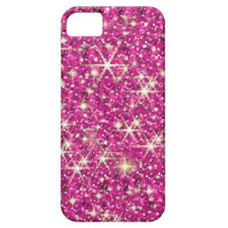 Pink glitter sparkle starry iPhone 5 case