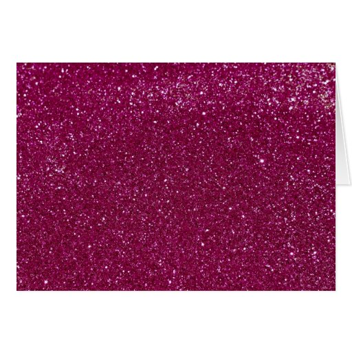Pink Glitter Sparkles Greeting Card
