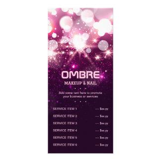 Pink Glitter Sparkles - Price Service List Menu