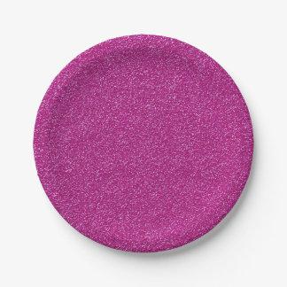 Pink glitter texture paper plate