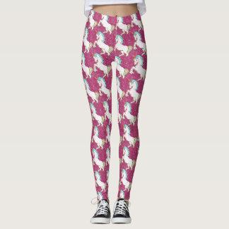 Pink Glitter Unicorn Leggins Leggings