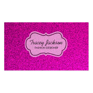 Pink glitter white tag custom business cards