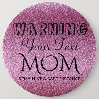 Pink Glittery Gradient 6 Cm Round Badge