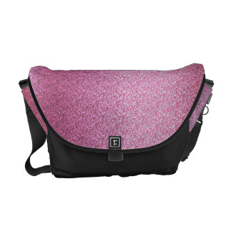 Pink Glittery Gradient Courier Bag