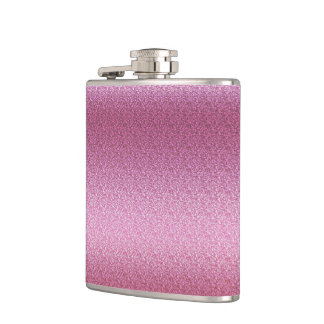 Pink Glittery Gradient Hip Flask
