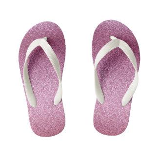Pink Glittery Gradient Kid's Thongs