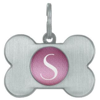 Pink Glittery Gradient Pet ID Tag