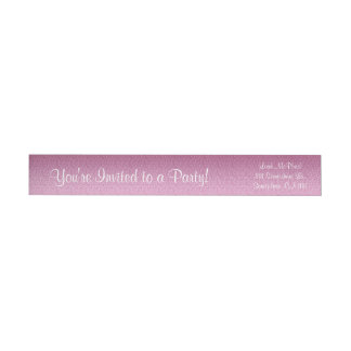 Pink Glittery Gradient Wrap Around Label