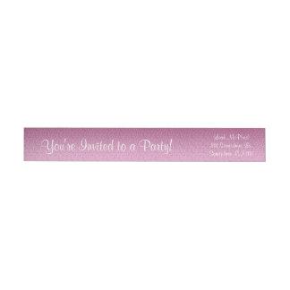 Pink Glittery Gradient Wrap Around Label